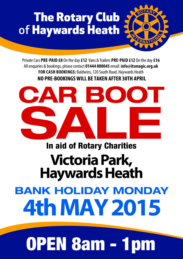 RCHH Car Boot Sale A3 Poster