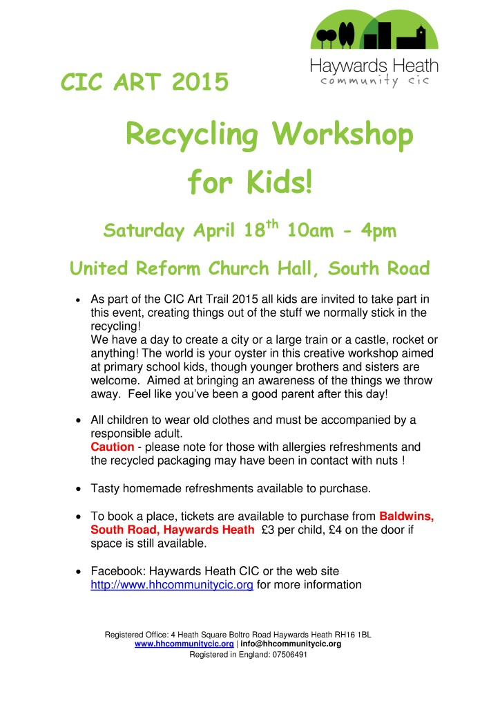 Recycling Workshop  leaflet 18 04 15-001