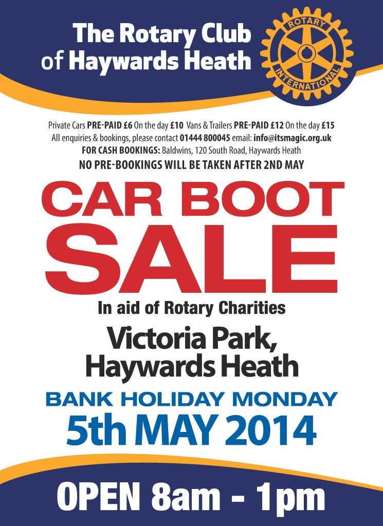 Rotary Car Boot Sale 2014 LEADER Advert-001